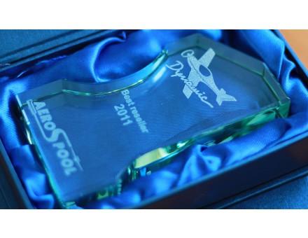 gravírovanie sklenených ocenení