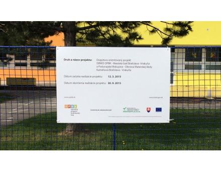 povinná publicita k projektu - miesto: Bratislava