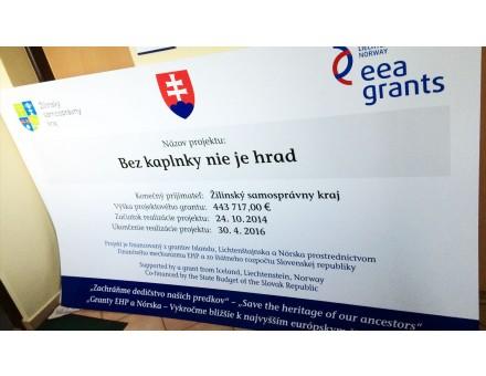 povinná publicita k projektu - miesto: Žilina - Budatín