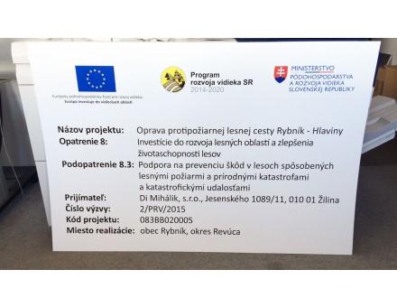 povinná publicita k projektu - miesto: Žilina